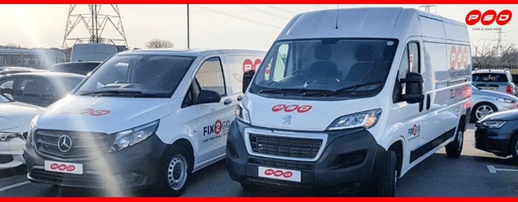 examples of vans for hire in St Helens