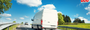 driving a van on a fast road