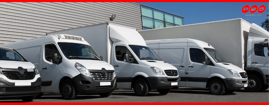 Selection of van sizes available at PSD