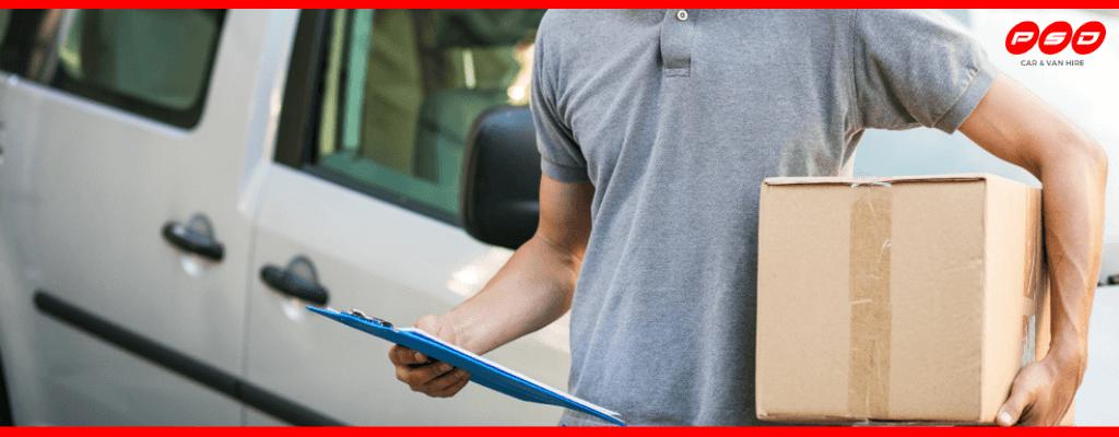 Man using delivery van