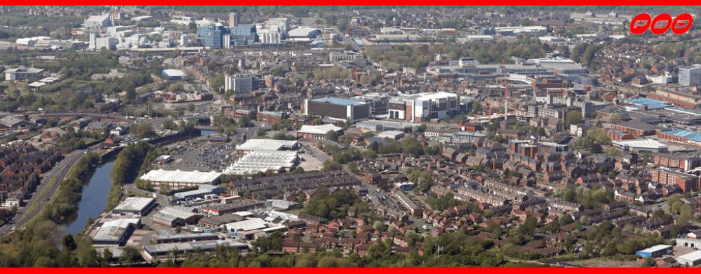Aerial image of Warrington